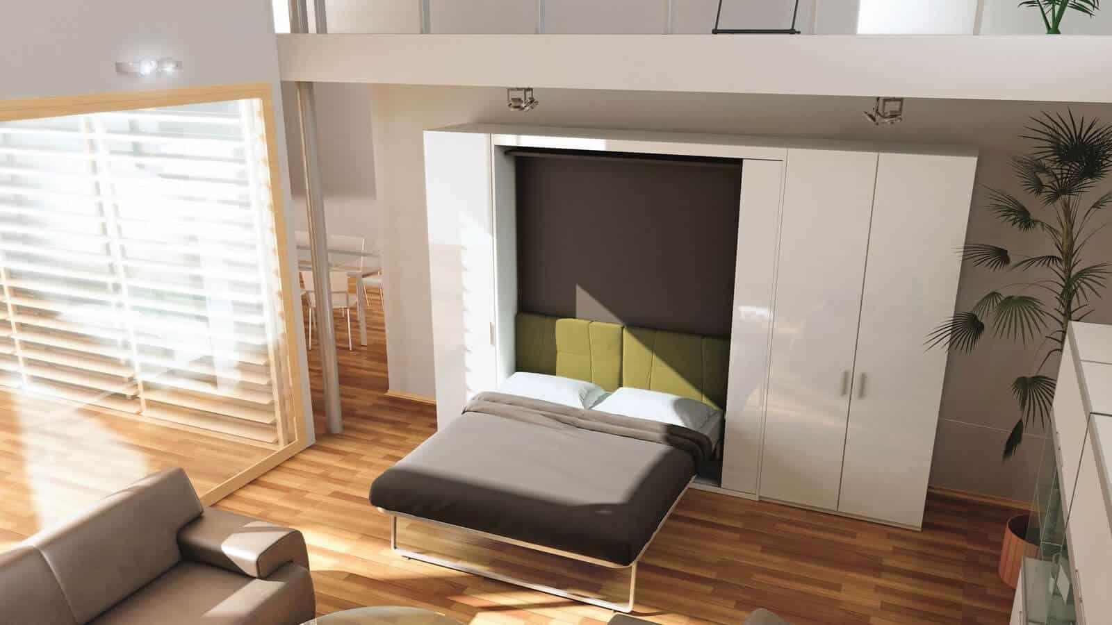 Tv Escamotable Lit lit escamotable bibliothèque | gain de place | optimal annecy