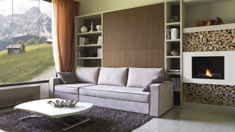 lit escamotable avec canapé chalet