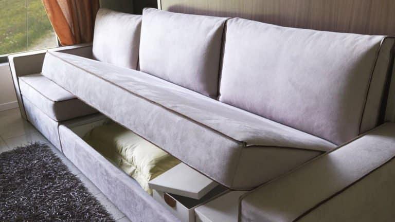 rangements canapé lit escamotable