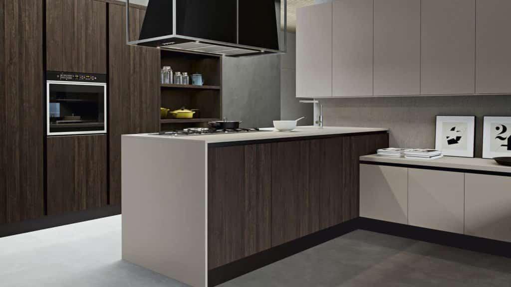 cuisine design bois foncé marron