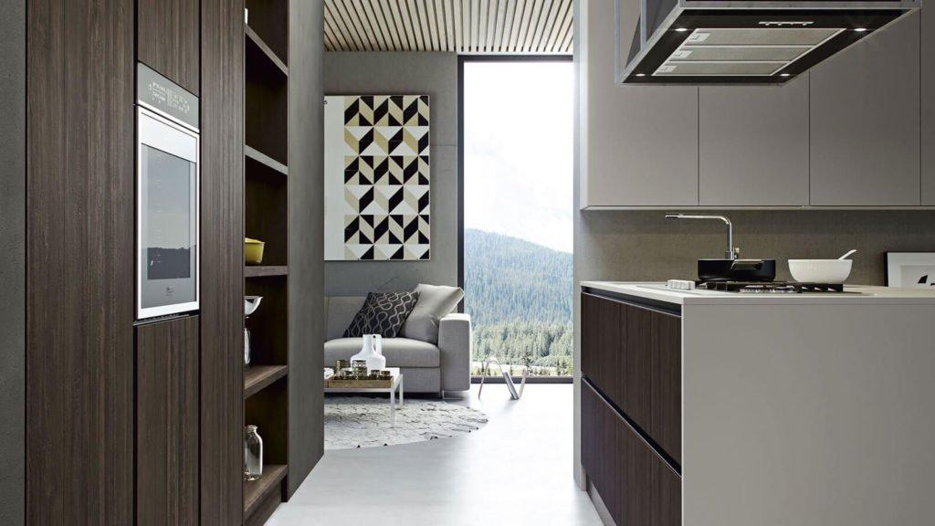 cuisine bois foncé marron design