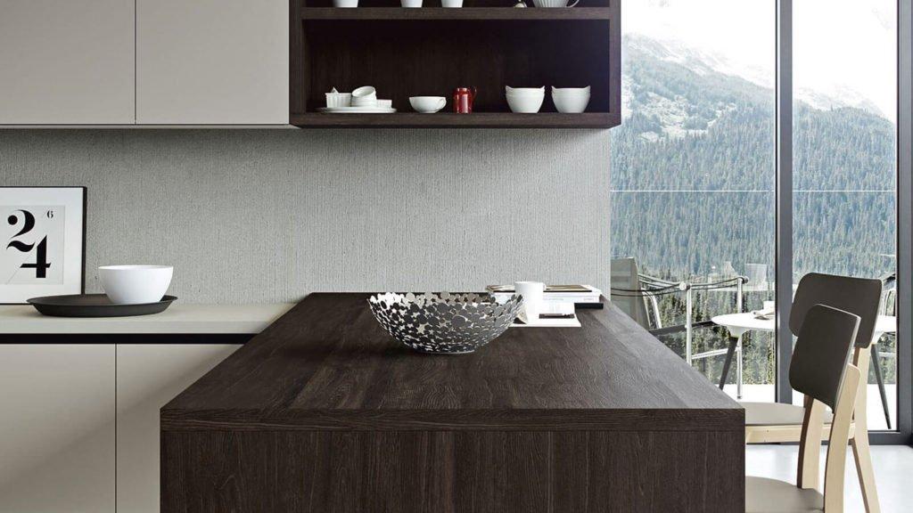 table bois foncé cuisine