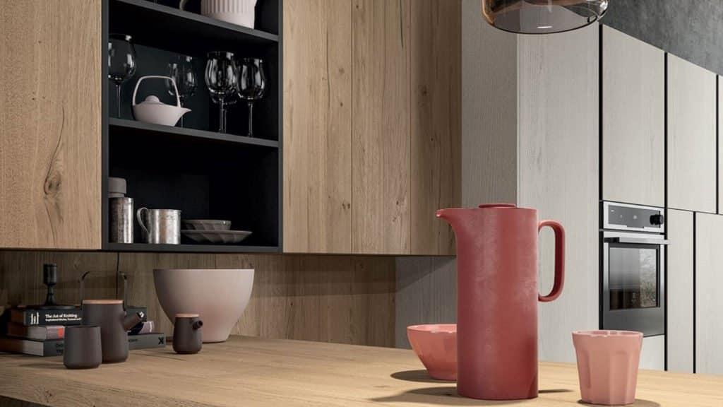 cuisine meubles et plan de travail bois