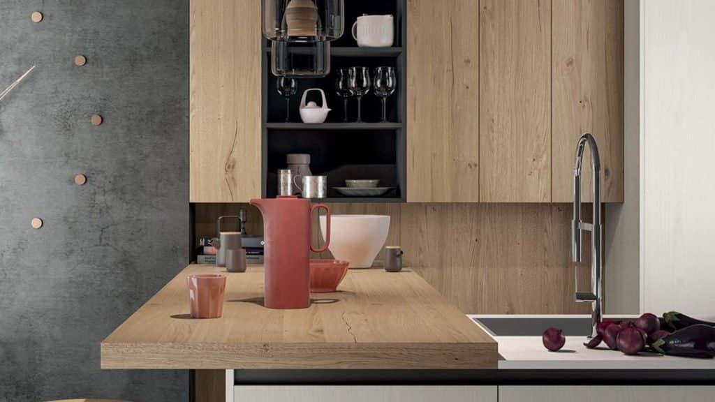 cuisine moderne style industriel bois