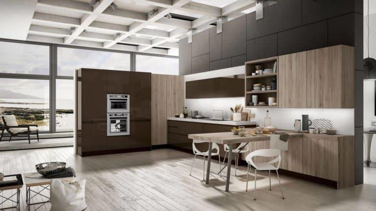 cuisine en bois meubles marrons