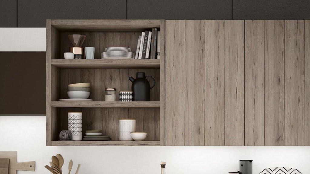 meubles hauts cuisine bois