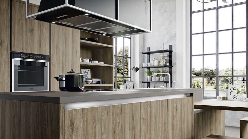 cuisine bois portes de placards