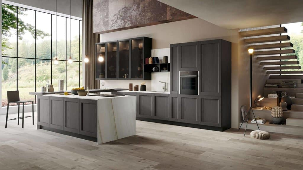 cuisine style industriel bois noire