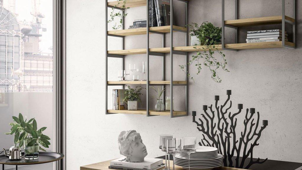 cuisine design style industriel rangements muraux