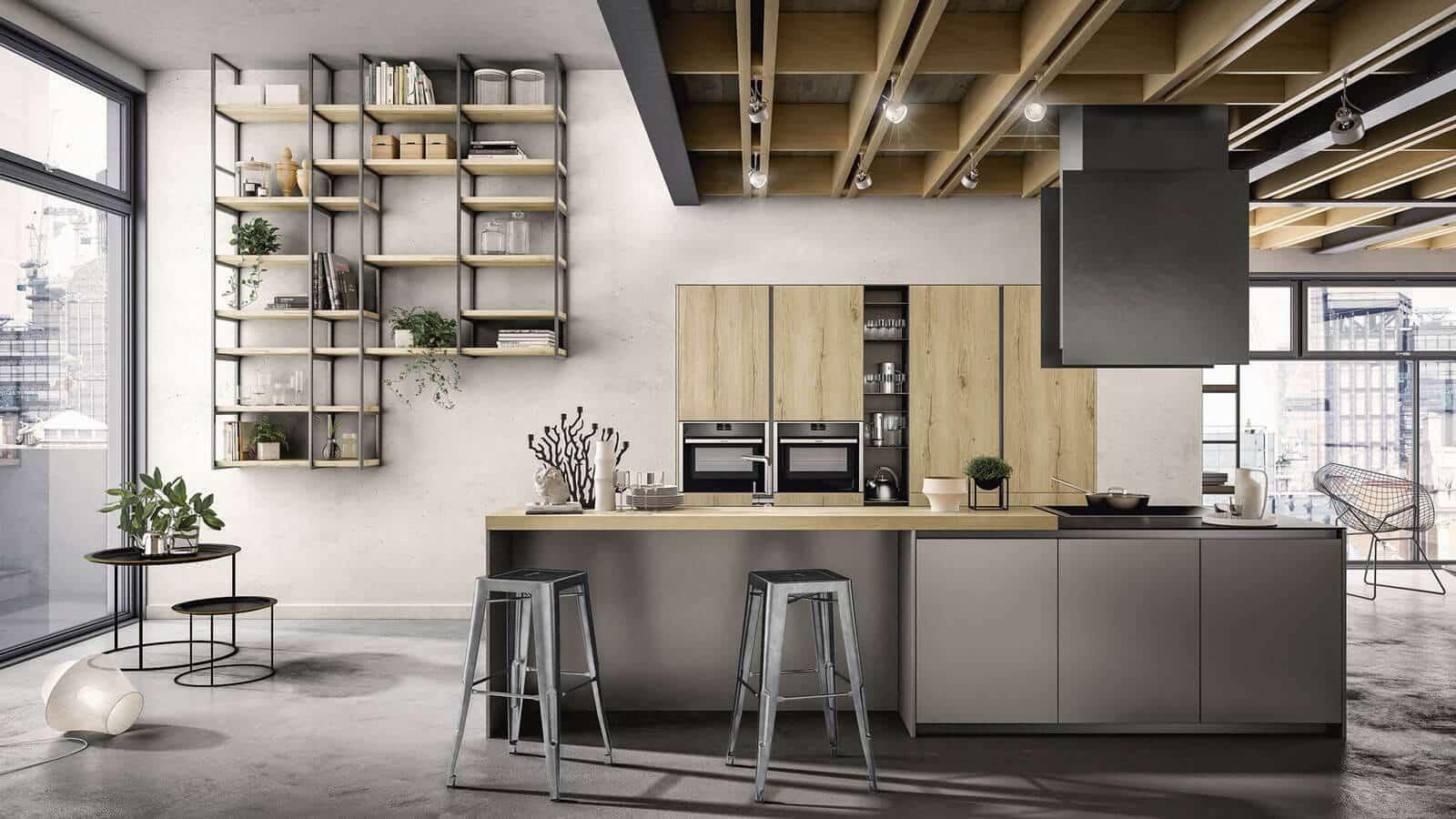 Cuisine Style Industriel Fabrication Italienne Optimal
