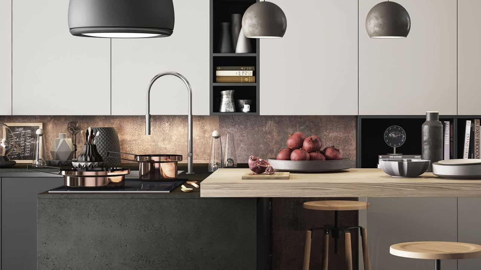 Cuisine Noir Et Blanc Mat cuisine noire | fabrication italienne | optimal annecy