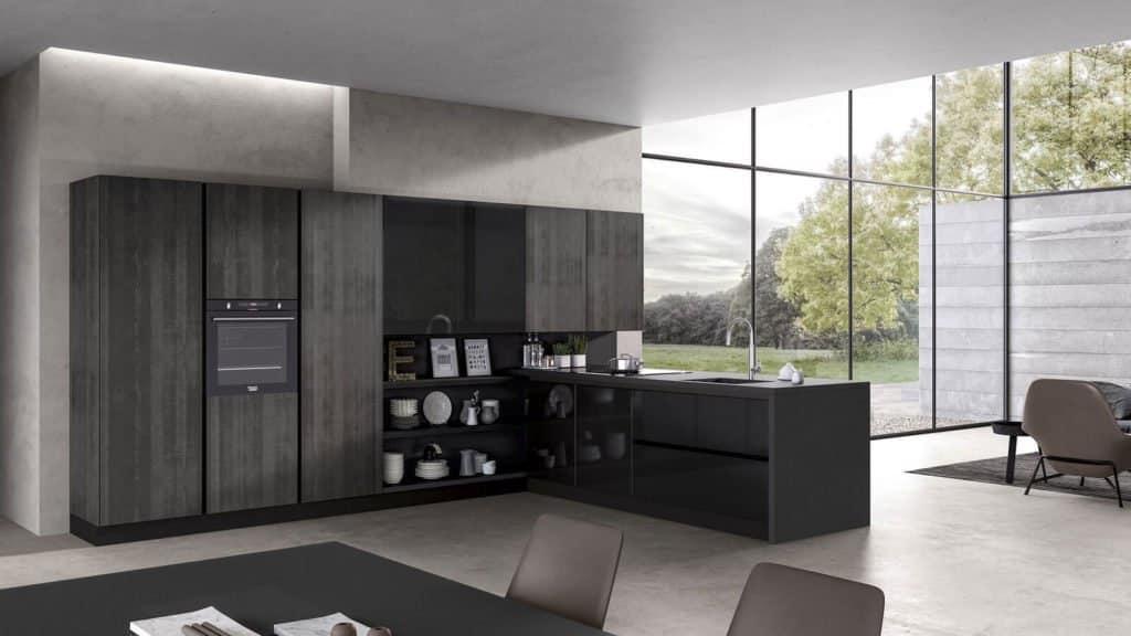 cuisine noire et grise