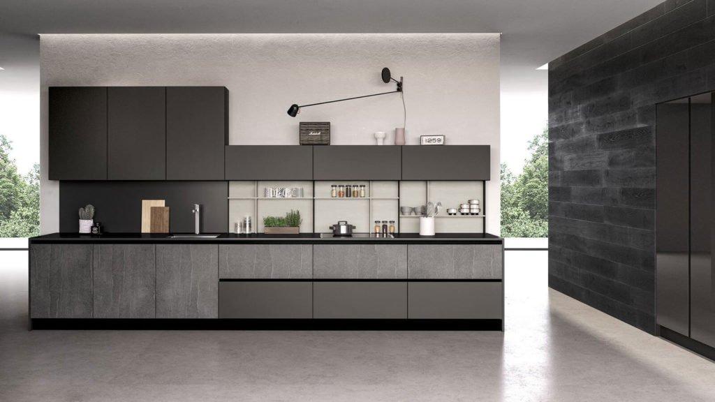 cuisine noire et matières