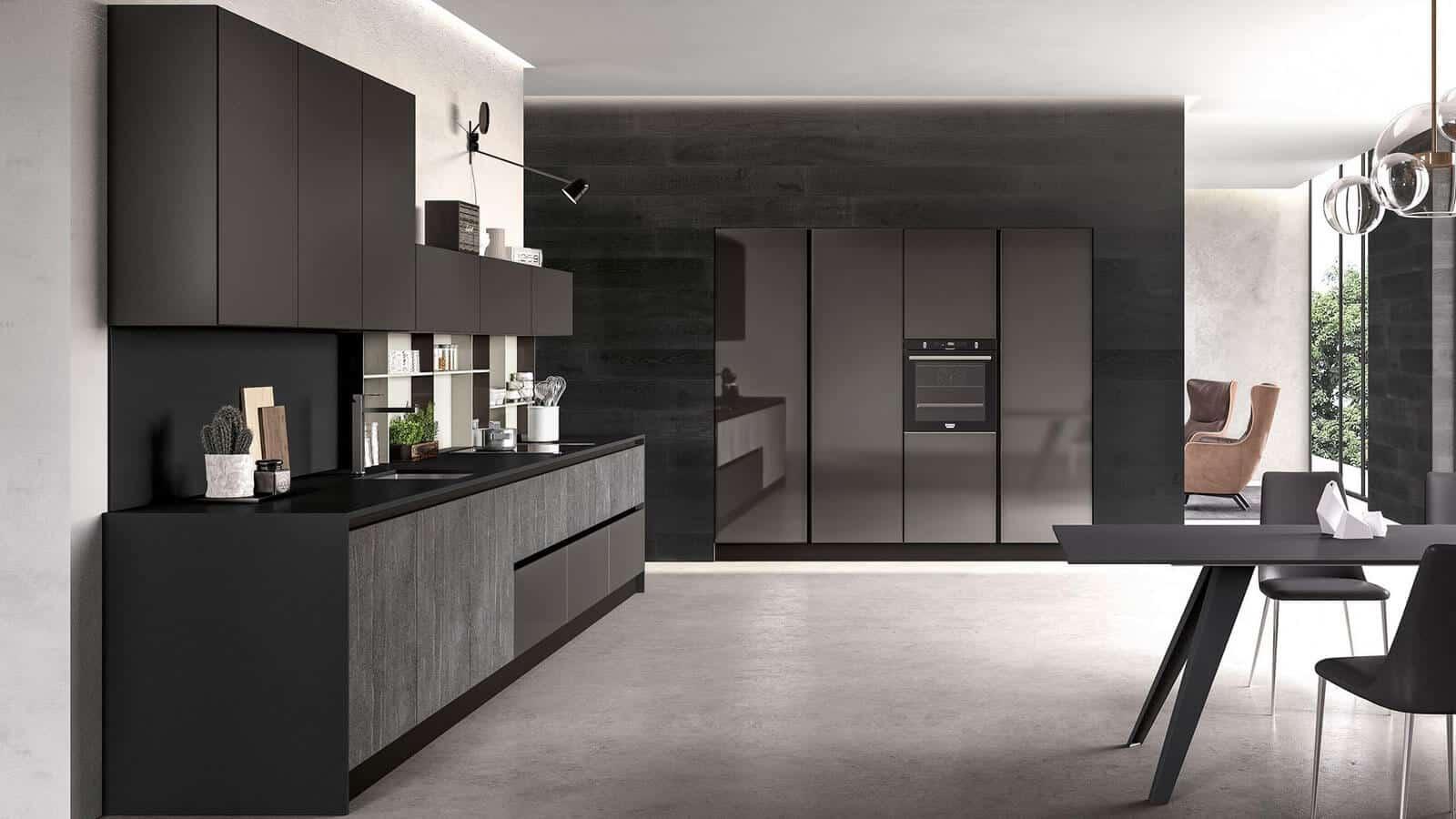 Cuisine Noire Fabrication Italienne Optimal Annecy