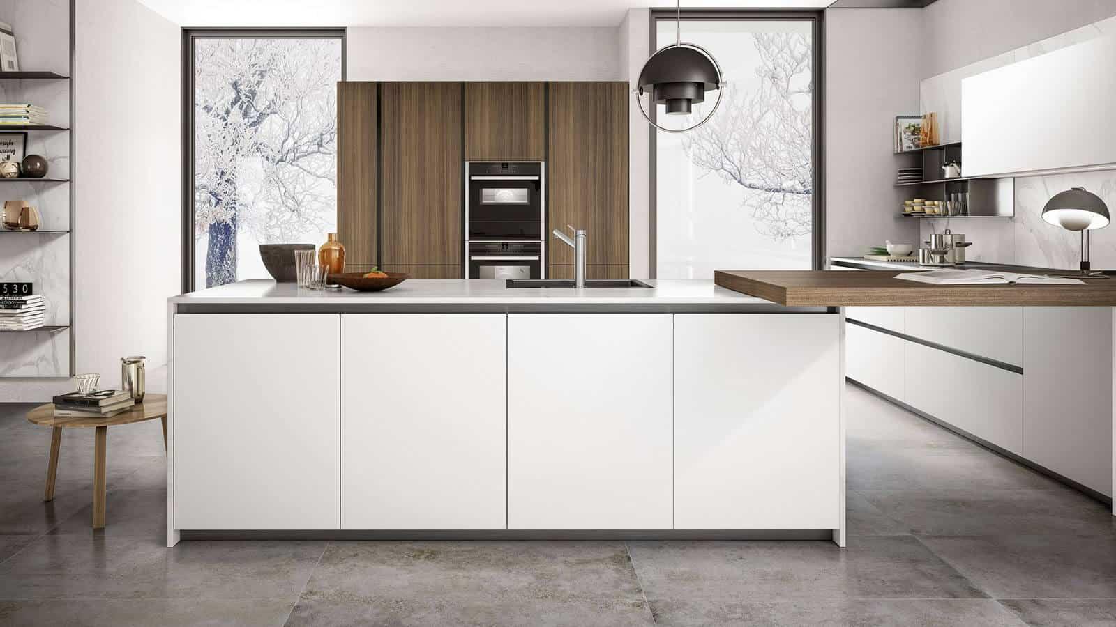Credence Cuisine Marbre Blanc cuisine design | optimal cuisines & intérieurs | annecy | epagny