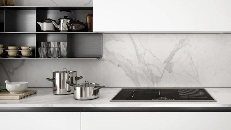 crédence cuisine marbre design