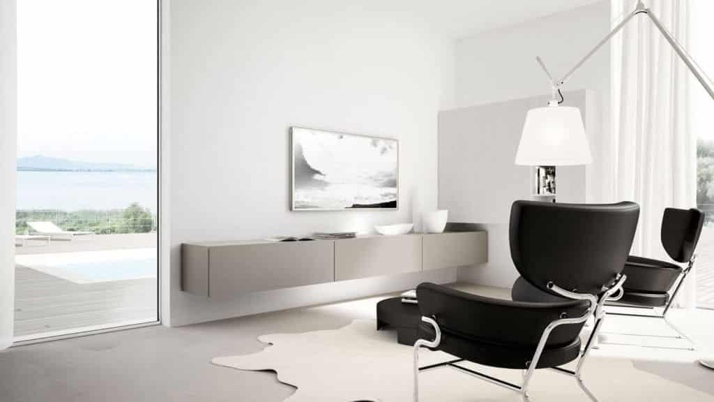 meuble télé laque