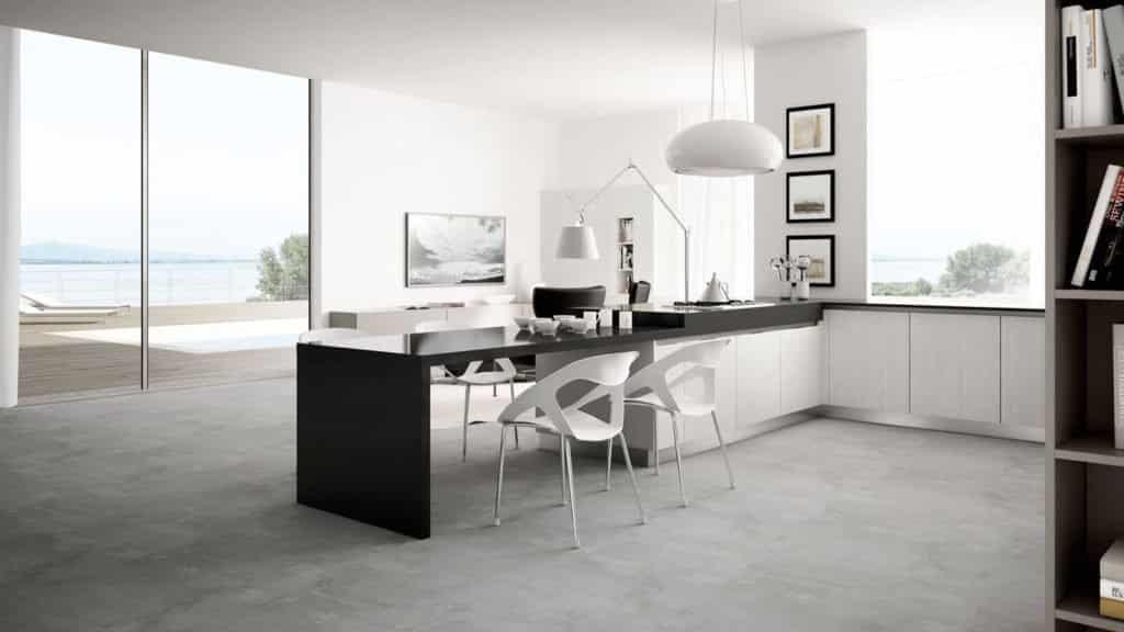 cuisine design laquée table