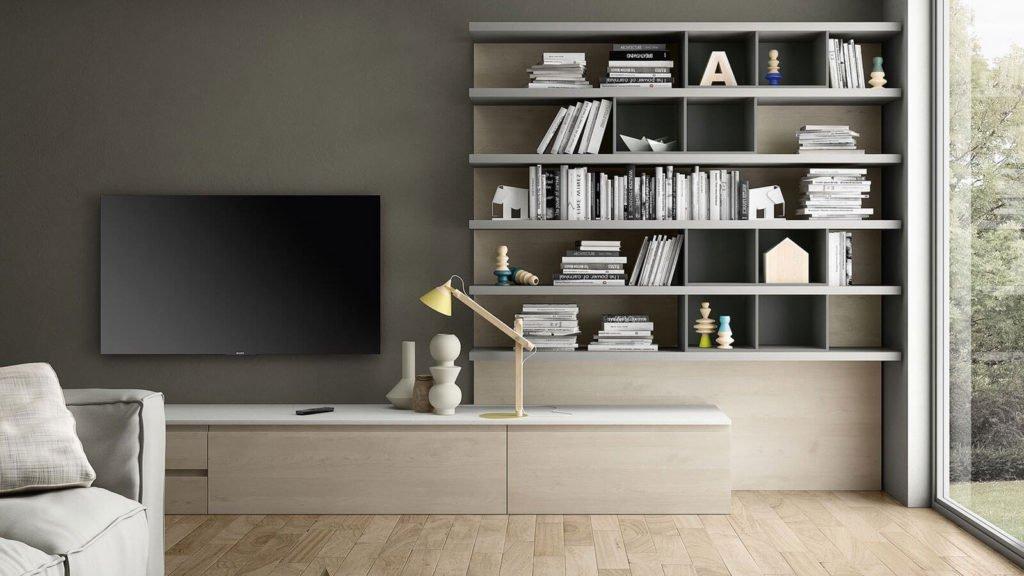 meuble télé bois clair