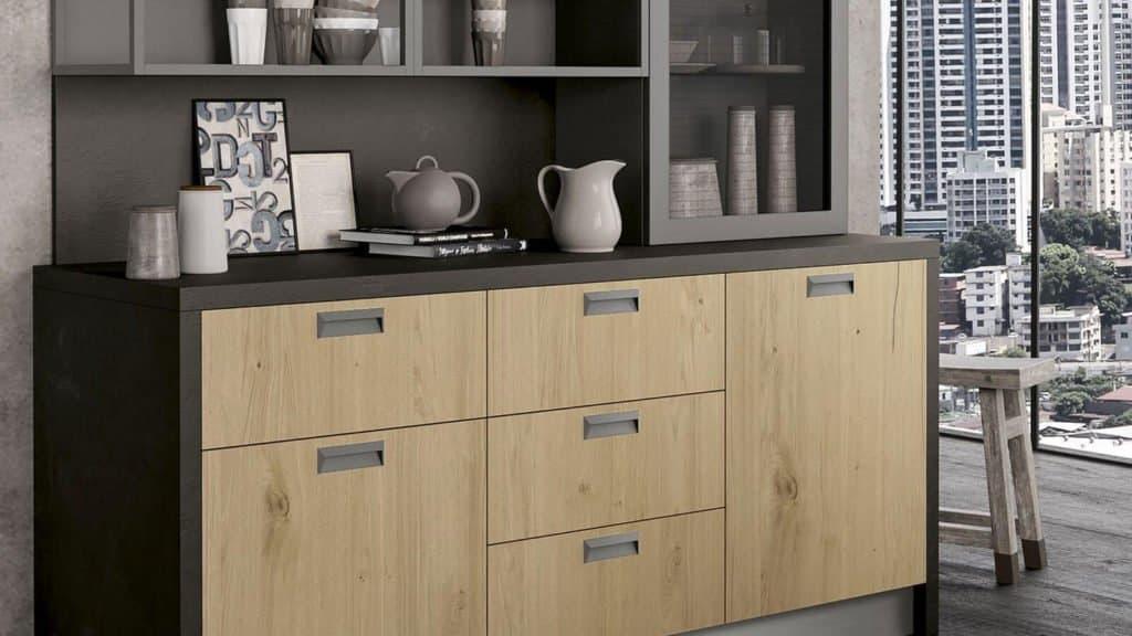 tiroirs cuisine bois style industriel