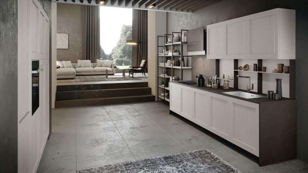 cuisine bois blanc style industriel