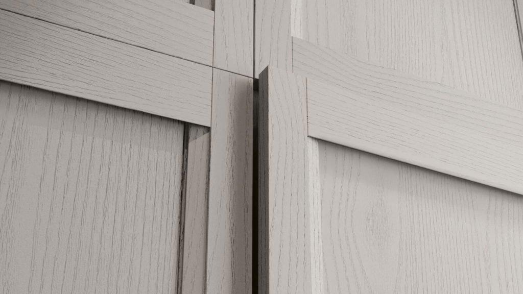 cuisine industrielle bois blanc portes meubles