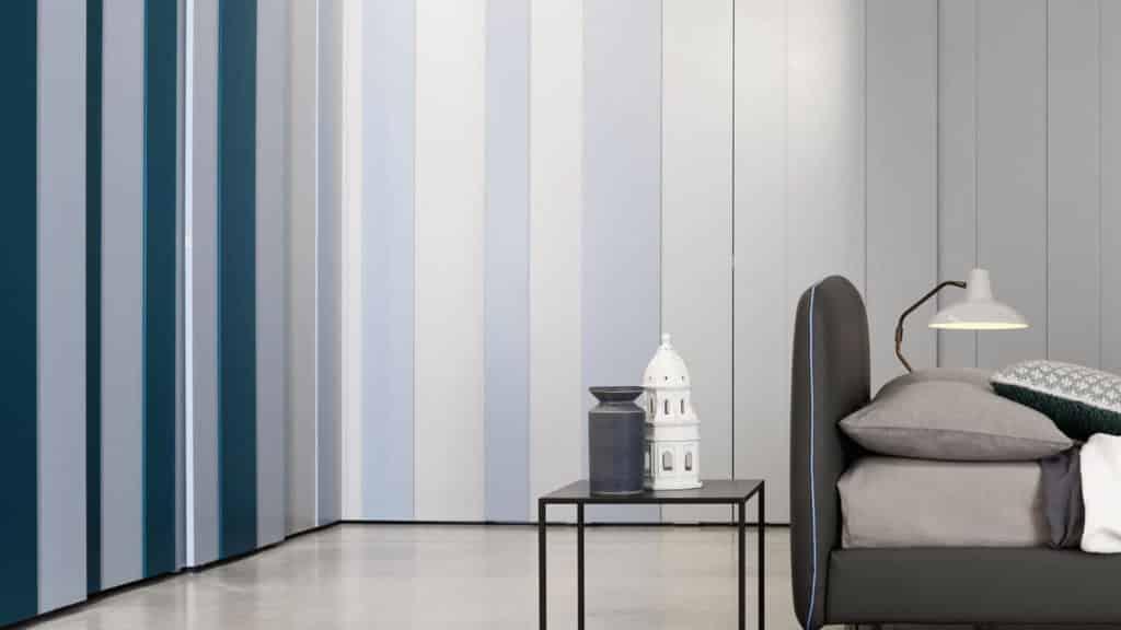 armoire angle bleue