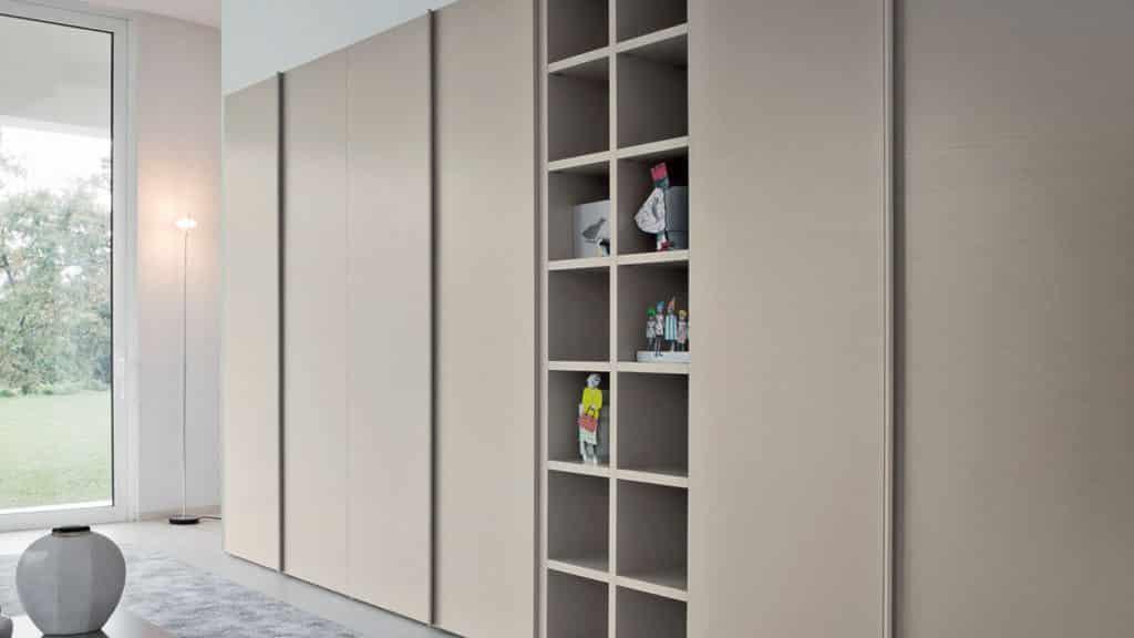armoire dressing beige