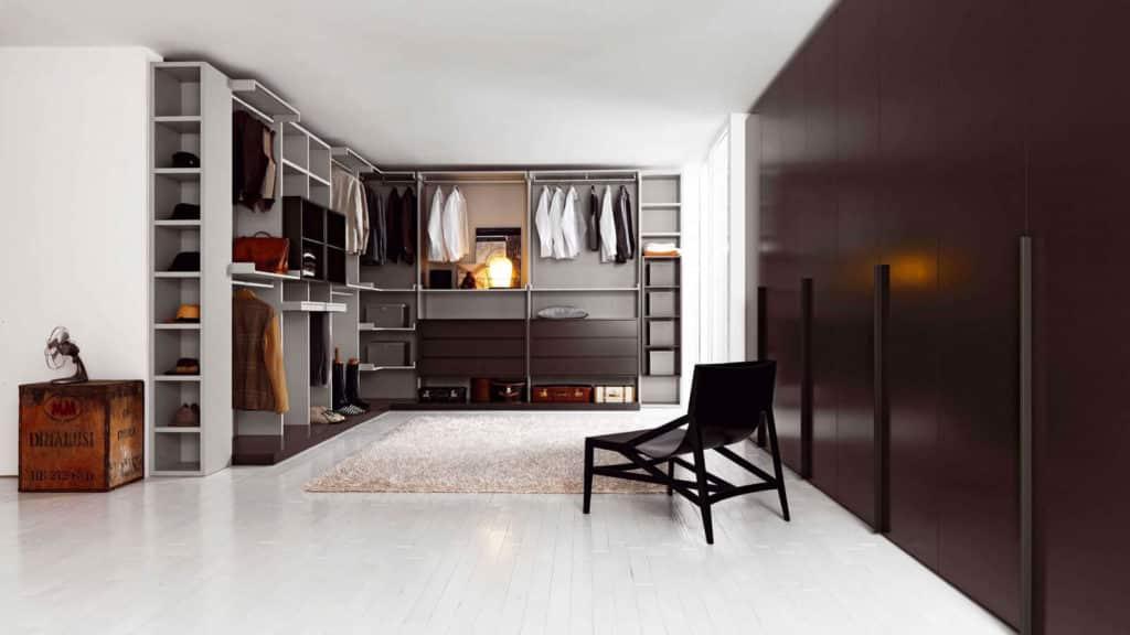 armoire dressing marron