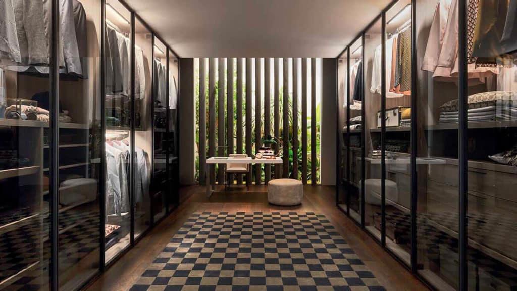 armoire dressing vitrine