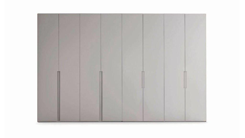armoire battante grise