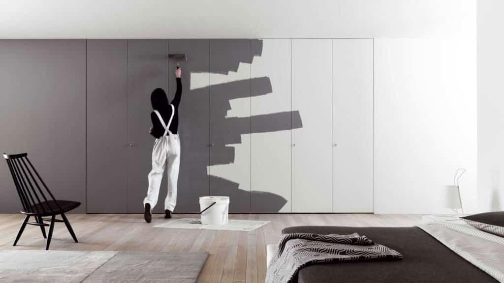 armoire portes battantes à peindre