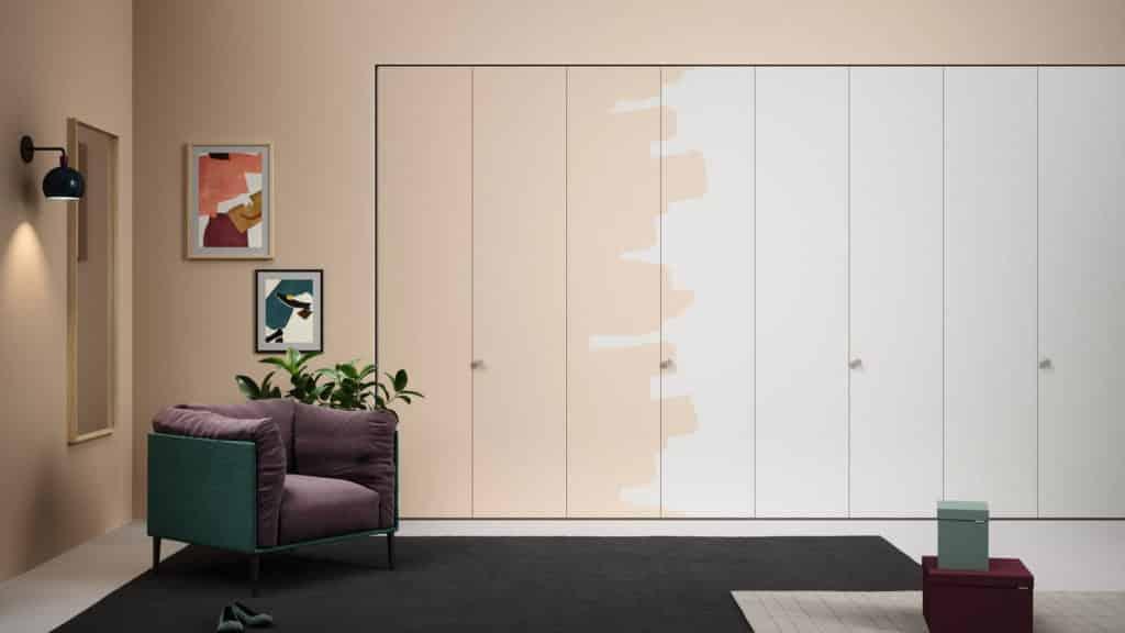 armoire portes battantes à peindre beige