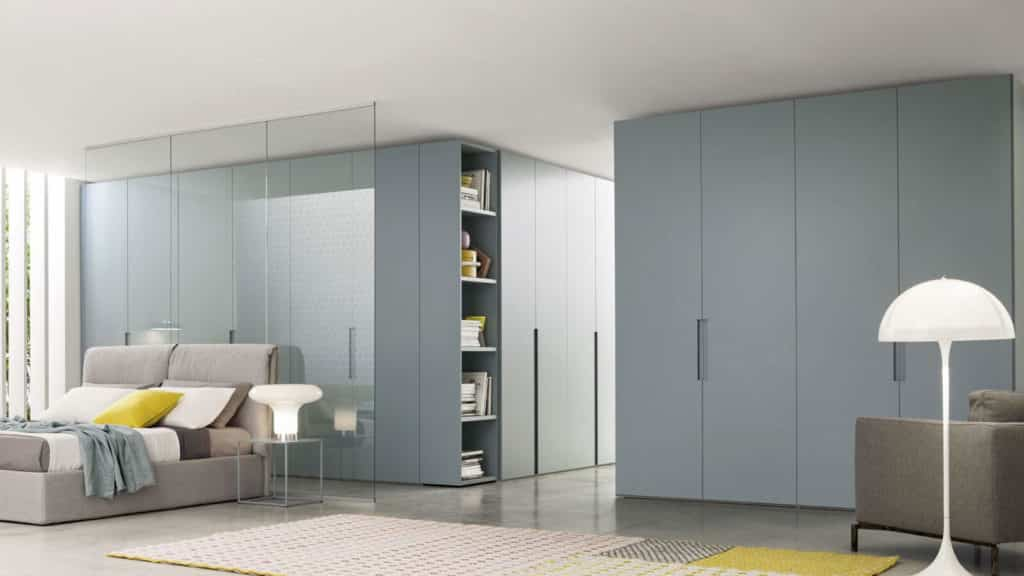 armoire battante bleue