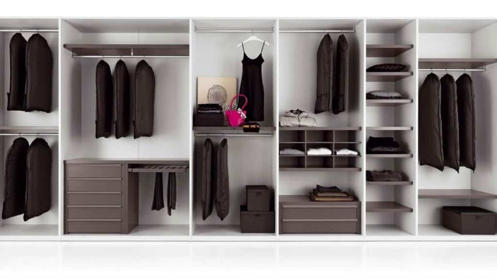armoire sur-mesure blanche marron