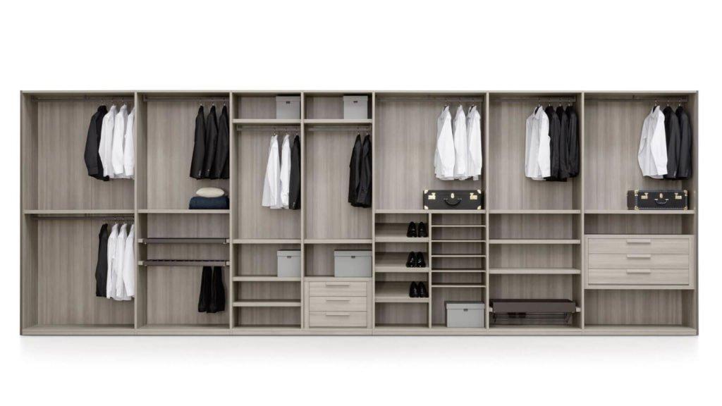 armoire sur-mesure bois foncé