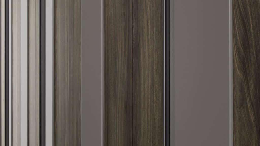 armoire portes battantes bois laque plissée
