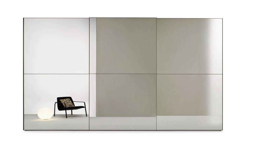 armoire porte coulissante deux miroirs