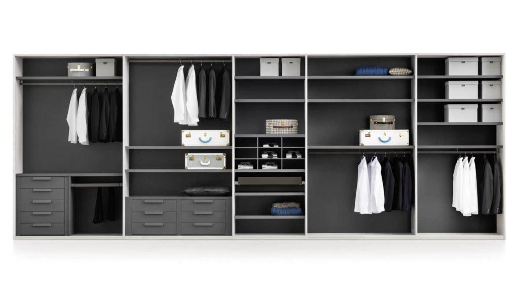 armoire sur-mesure gris foncé