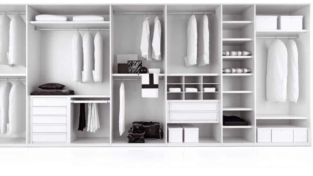 armoire sur-mesure intérieur blanc