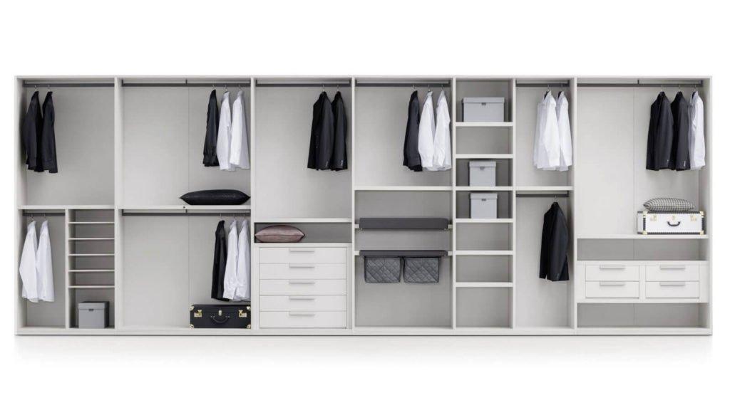 armoire sur-mesure intérieur gris