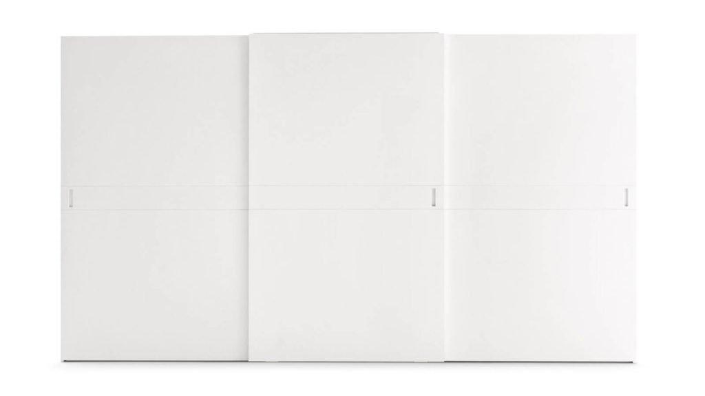 armoire porte coulissante laquée mate blanche