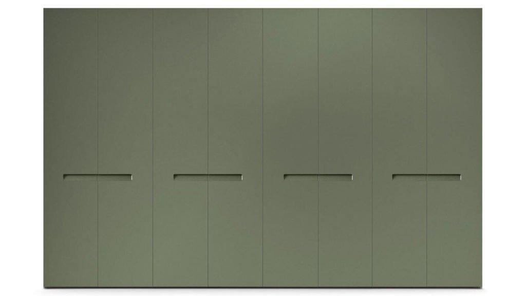 armoire laque mate poignées encastrées