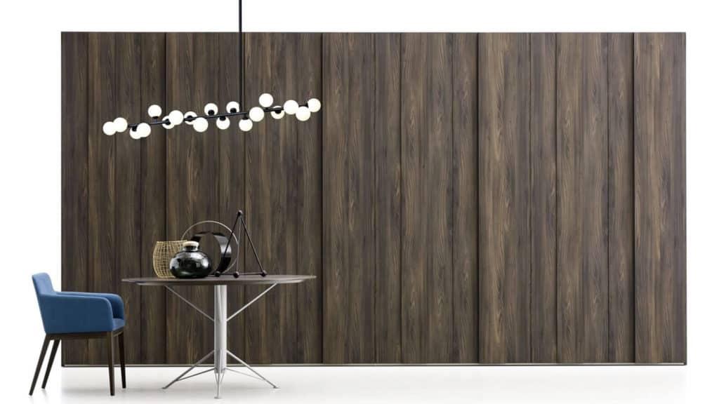 armoire portes battantes plissée bois