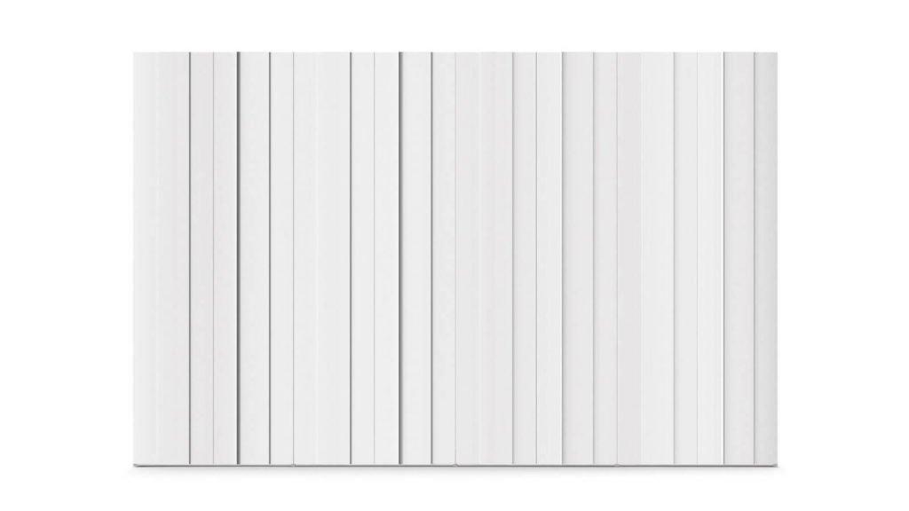 armoire portes battantes plissée blanche