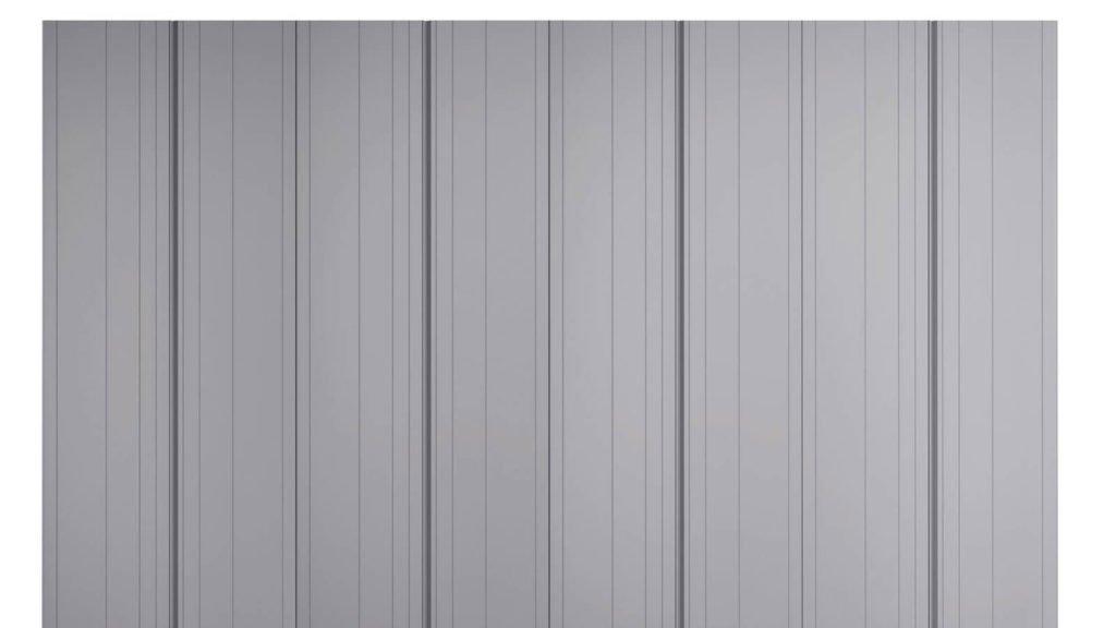 armoire plissée grise laque mate