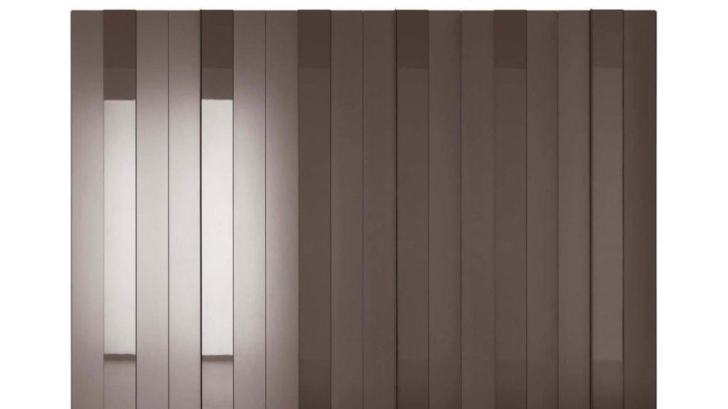 armoire portes battantes plissée laque brillante