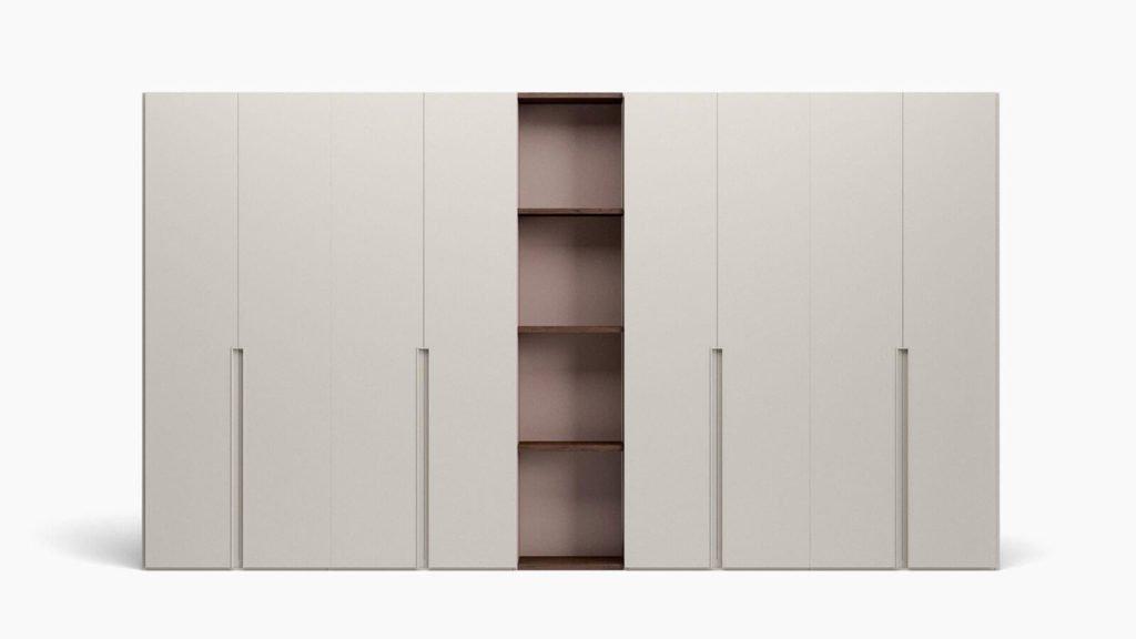 armoire portes battantes taupe