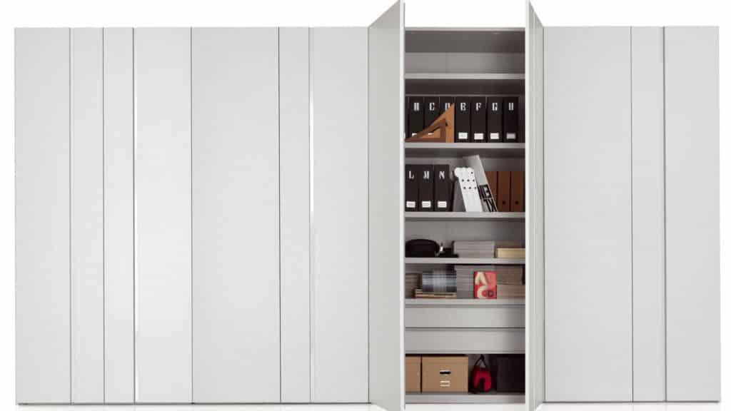 armoire porte laque mate battante blanche