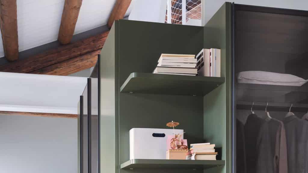 armoire portes transparentes bibliothèque